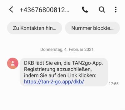 2021-02-04 DKB SMS Fake Spam