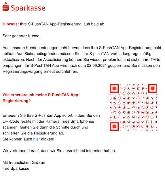 2021-02-09 Sparkasse Phishing