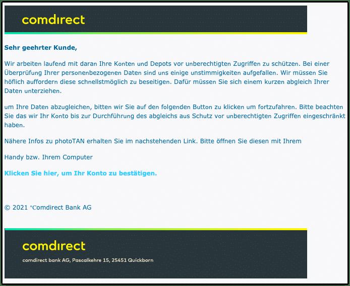 2021-02-15 Phishing Comdirect
