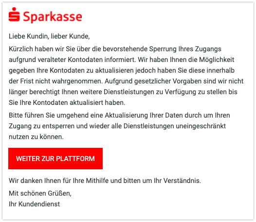 2021-02-22 Phishing Sparkasse