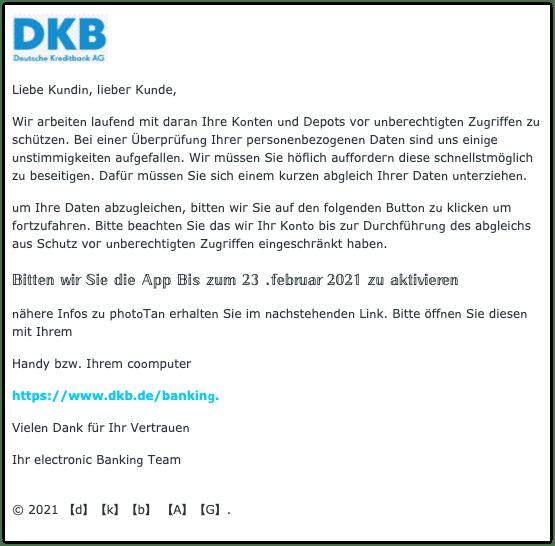 2021-02-25 Phishing DKB