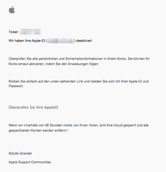 2021-02-27 Phishing Apple