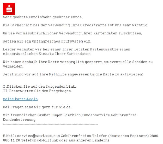 2021-02-27 Phishing Sparkasse
