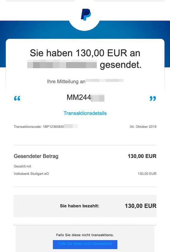 2021-03-07 Paypal Phishing