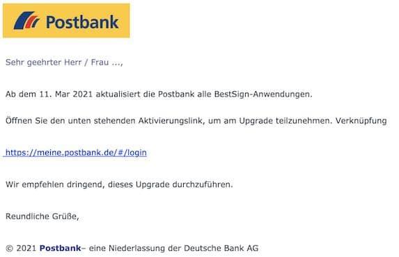 2021-03-11 Postbank Phishing