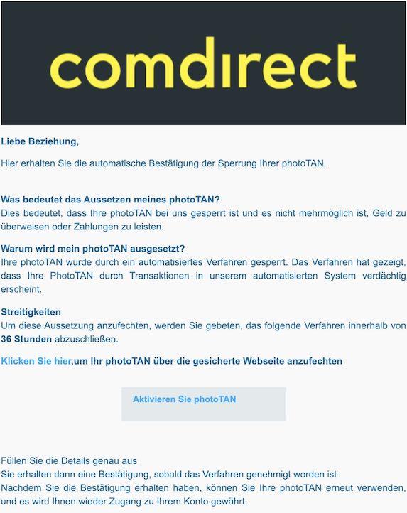 2021-03-31 Comdirect Spam