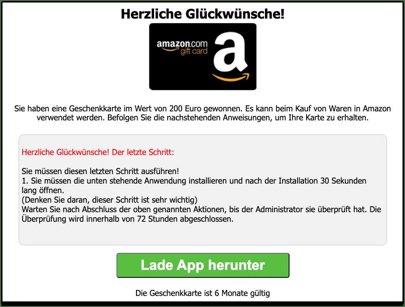 Amazon Gewinnspiel WhatsApp Link2