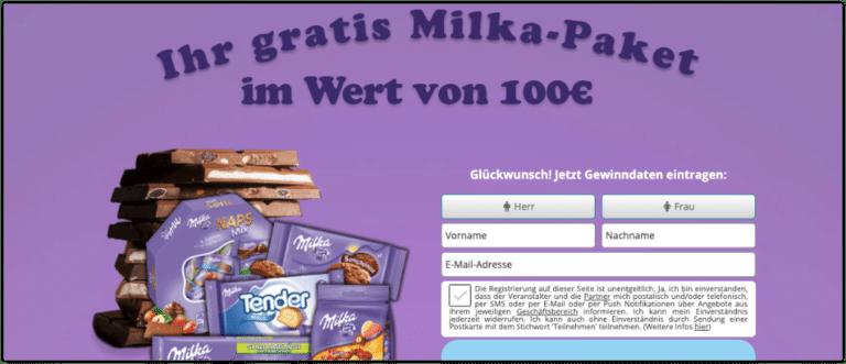 Milka Werbung TikTok Gewinnspiel