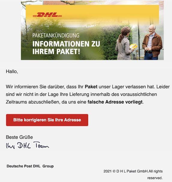 2021-03-10 DHL Phishing