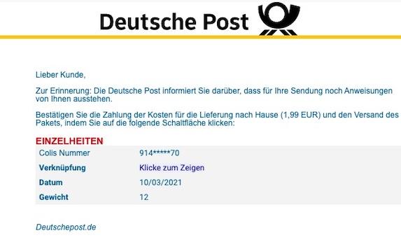 2021-03-10 Deutsche Post Phishing