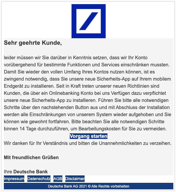 2021-03-16 Phishing Deutsche Bank 1