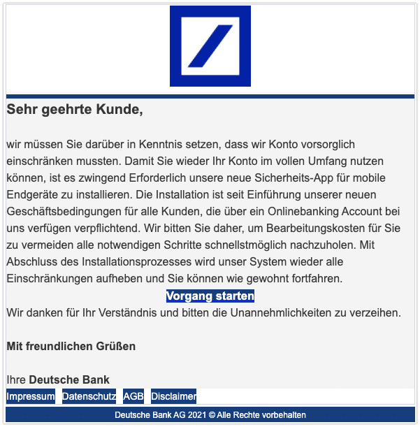 2021-03-16 Phishing Deutsche Bank