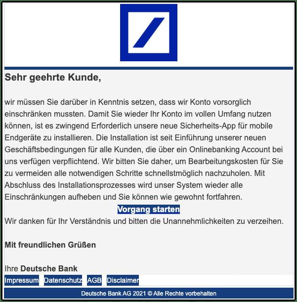 2021-03-16 Phishing Deutsche Bank