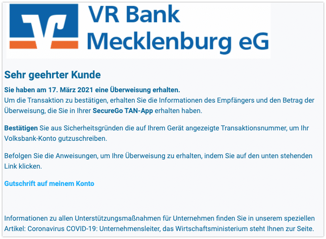 2021-03-18 Phishing Volksbank