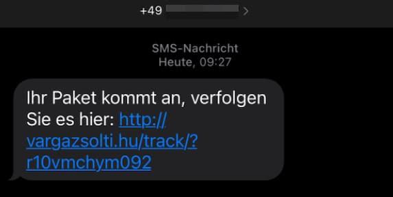 2021-03-18 SMS Paketverfolgung