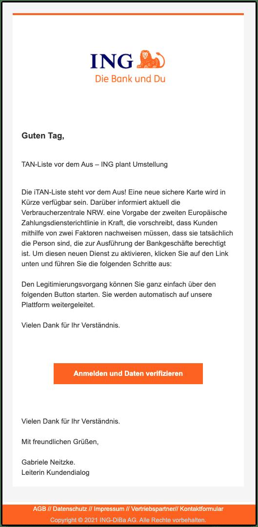 2021-03-19 Phishing ING Diba