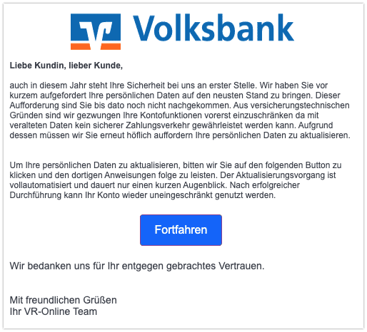 2021-03-19 Phishing Volksbank