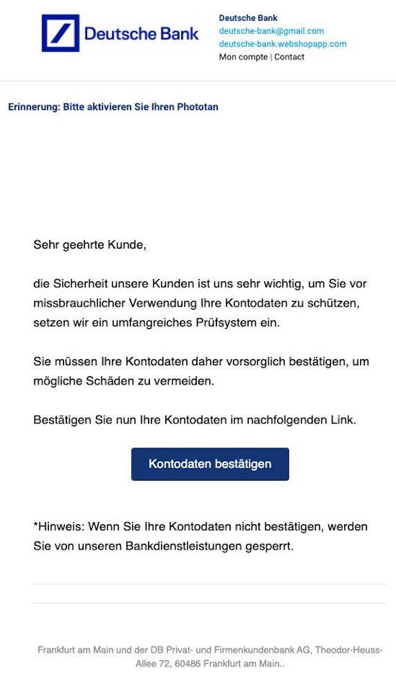 2021-03-23 Deutsche Bank Spam