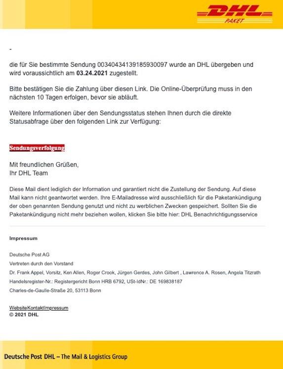 2021-03-24 DHL Spam