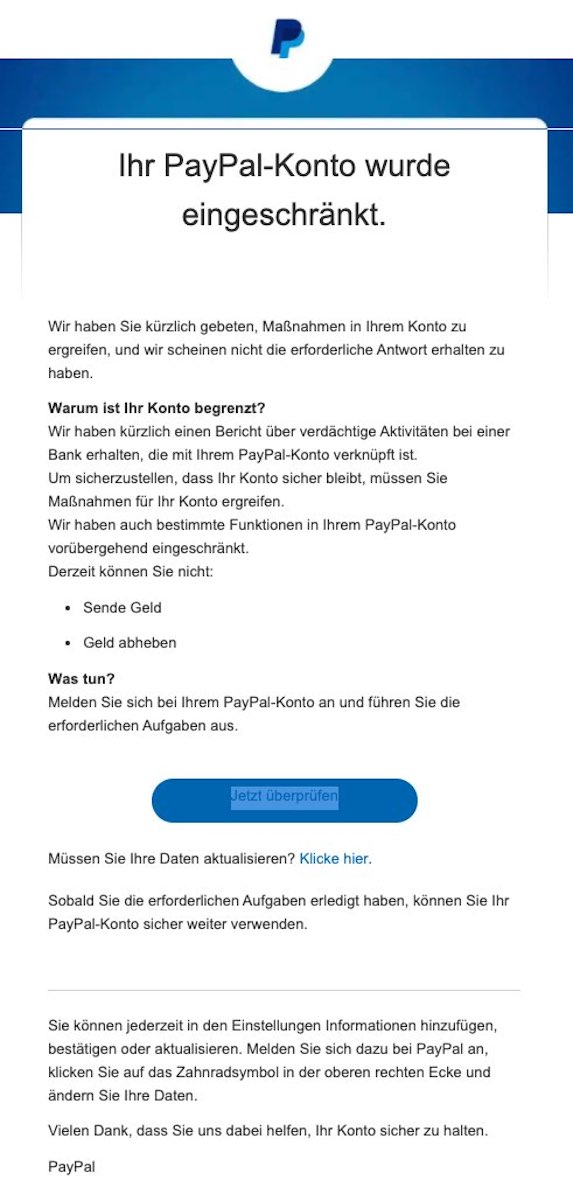 2021-03-24 PayPal Spam