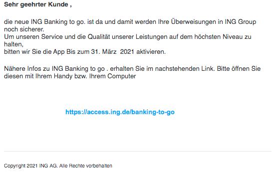 2021-03-24 Phishing ING Diba