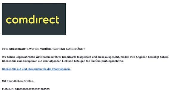 2021-04-09 Comdirect Spam