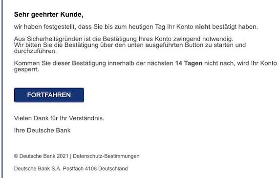 2021-04-18 Deutsche Bank Spam