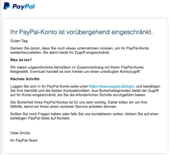 2021-08-10 PayPal Spam