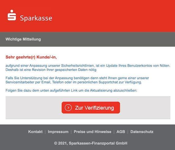 2021-04-04 Sparkasse spam