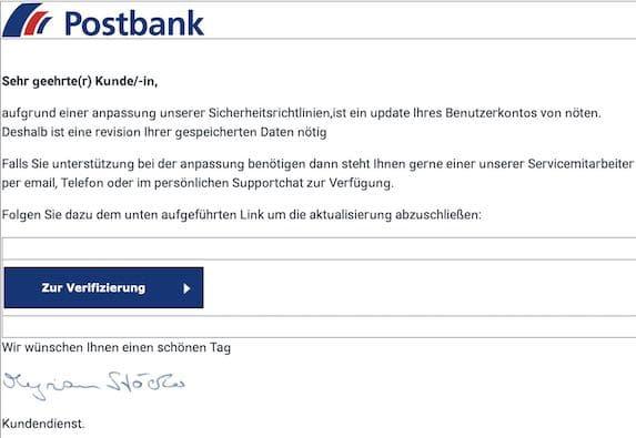 2021-04-09 Postbank Spam