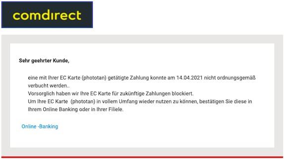 2021-04-14 Comdirect Spam