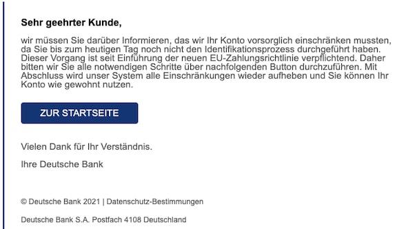 2021-04-19 Deutsche Bank Spam