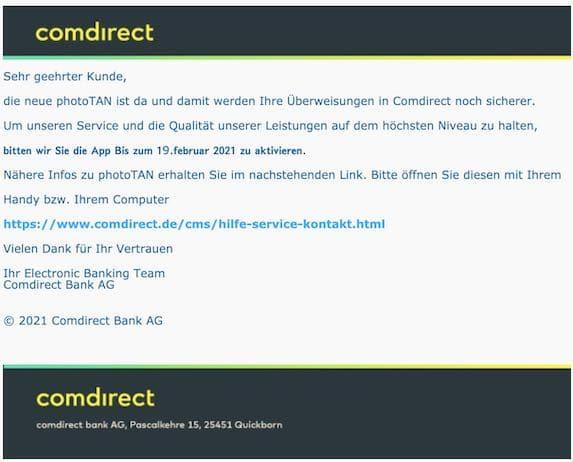 2021-04-22 Comdirect Spam