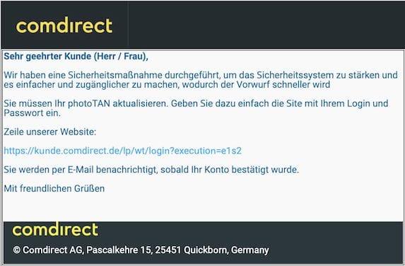 2021-04-26 Comdirect Spam