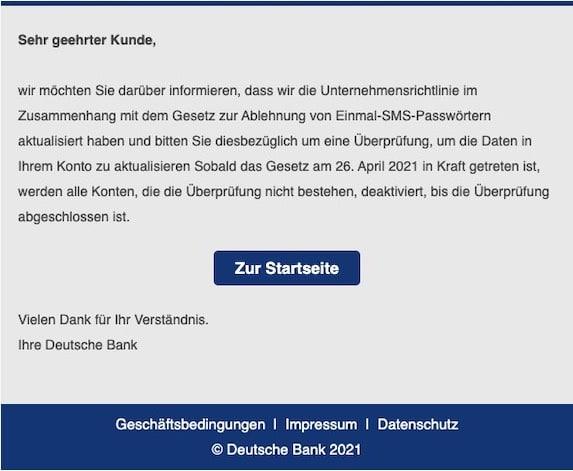 2021-04-26 Deutsche Bank Spam