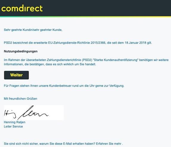 2021-04-27 Comdirect Spam
