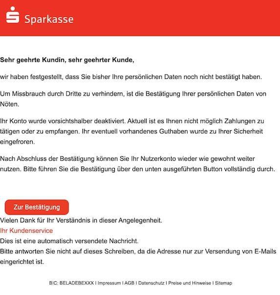 2021-04-30 Sparkasse Spam