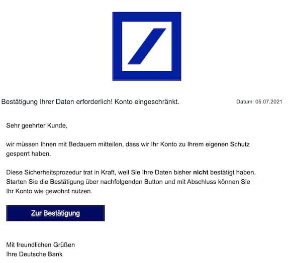 2021-07-08 Deutsche Bank Spam