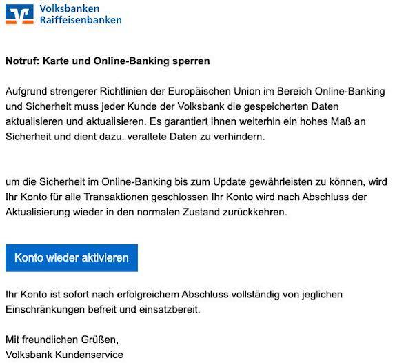 2021-09-07 Volksbank Spam