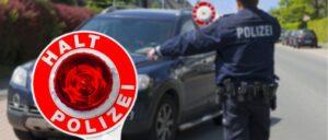 Polizei Kontrolle Auto Symbolbild
